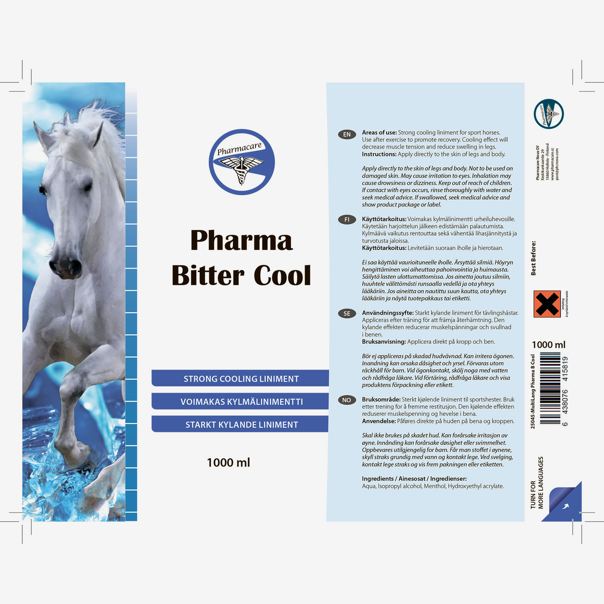 Pharma Bitter Cool 1000ml