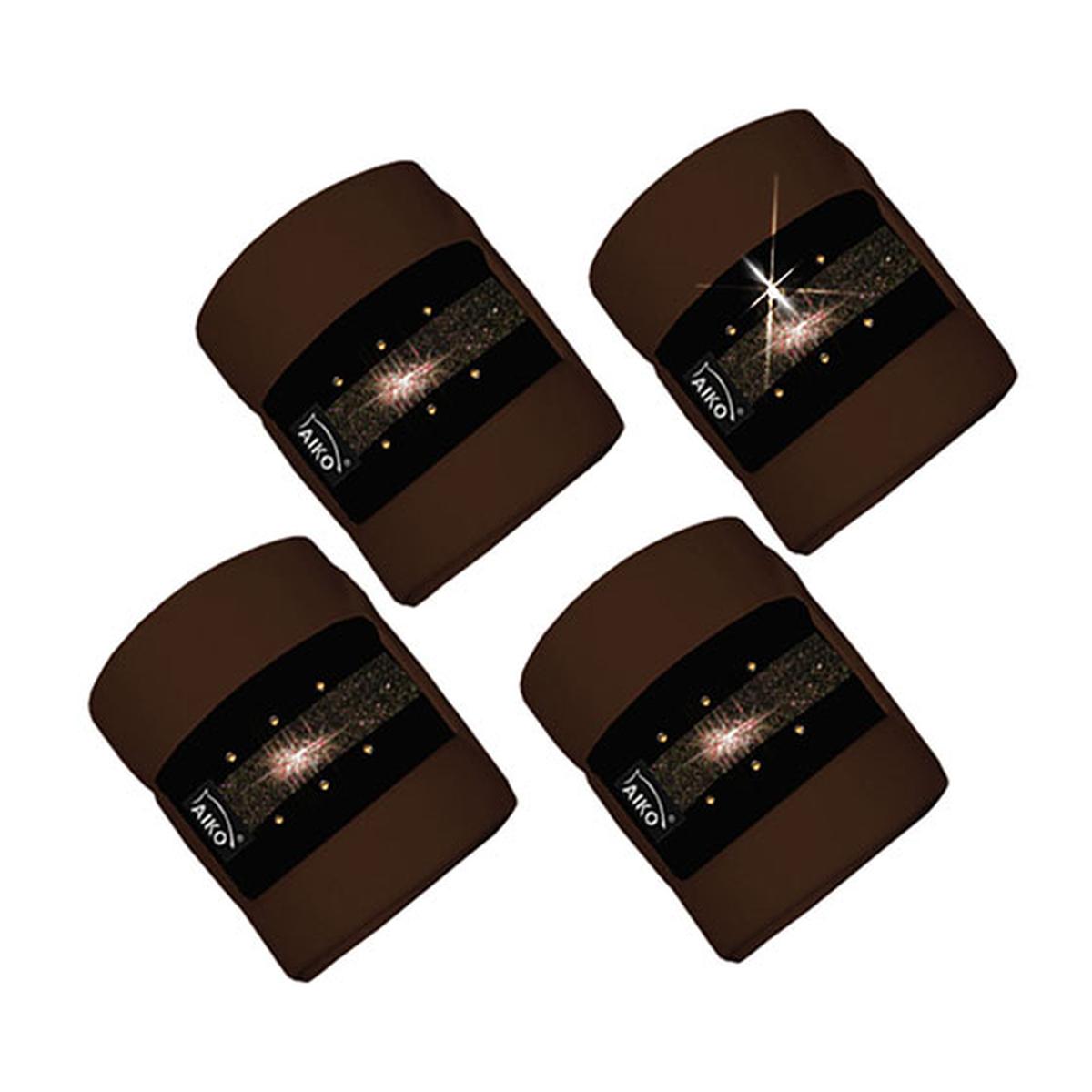 aiko crystal shine bandagenset 4er set horze. Black Bedroom Furniture Sets. Home Design Ideas