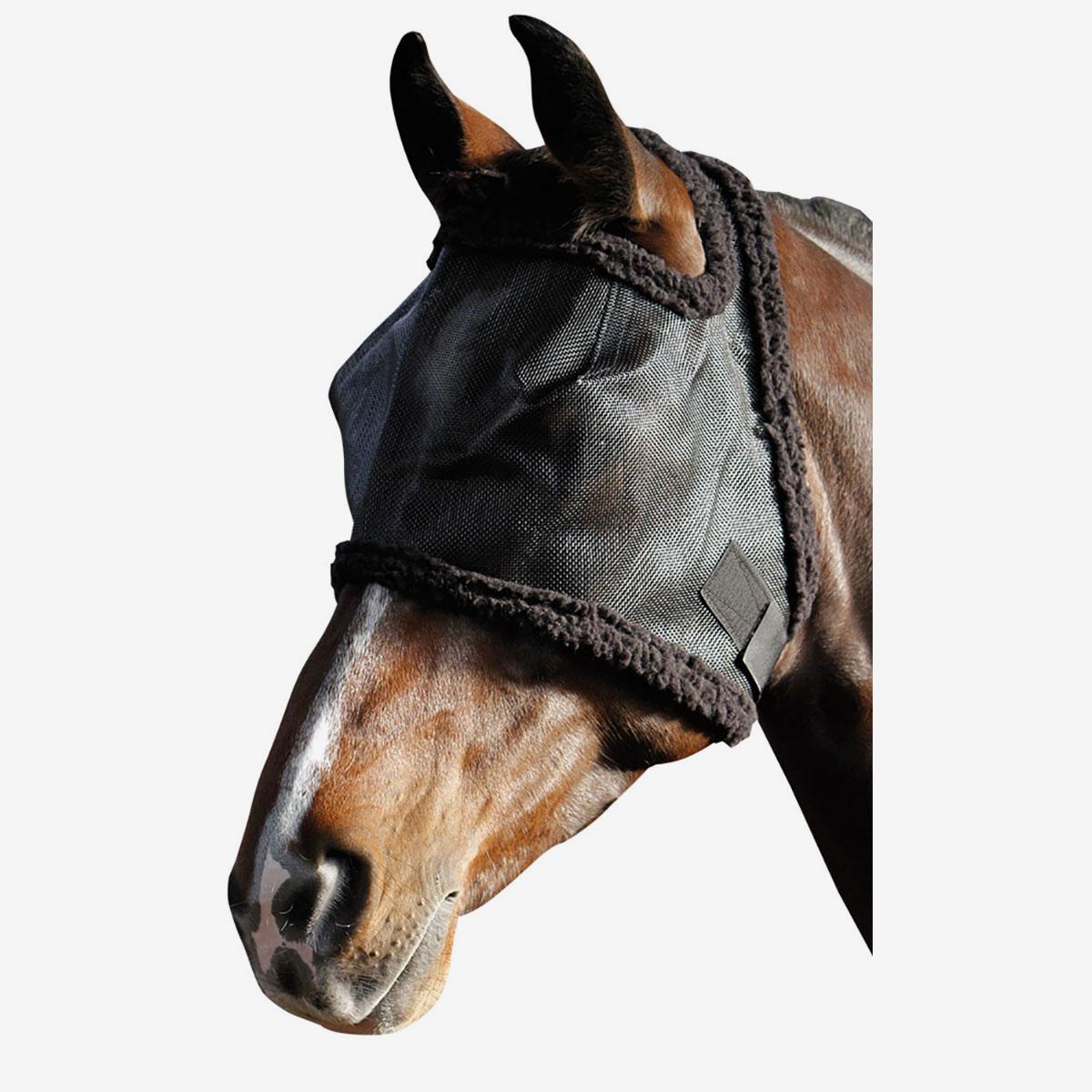 harry 39 s horse fliegenmaske mit fellbesatz horze. Black Bedroom Furniture Sets. Home Design Ideas